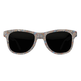 Abstract Floral Pattern Sunglasses