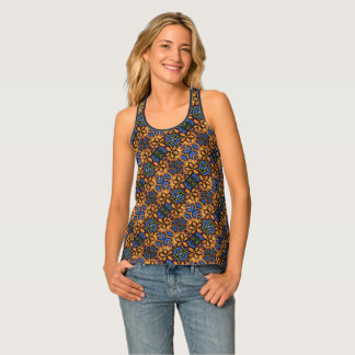 Abstract Floral Pattern Tank Top