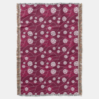 Abstract floral pattern throw blanket