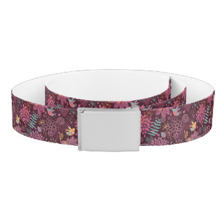 Abstract floral pattern with birds belt