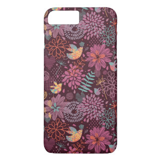 Abstract floral pattern with birds iPhone 8 plus/7 plus case