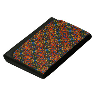 Abstract Floral Pattern Women's Wallet