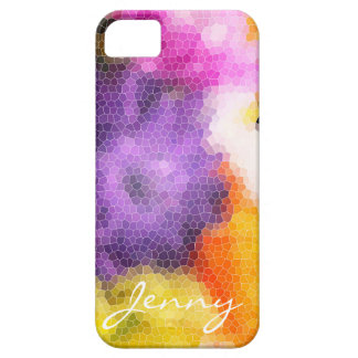 Abstract Floral Personalisable Case iPhone 5 Case