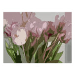 Abstract Floral - Pink Tulips