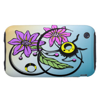 Abstract Floral - Purple & Pink iPhone 3G Case-Mat iPhone 3 Tough Covers