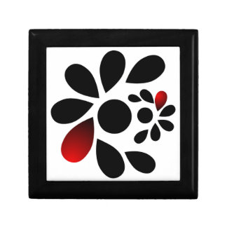 Abstract Floral Red and Black Gift Box
