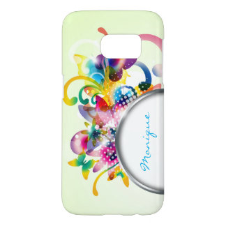 abstract floral spring case with frame for name
