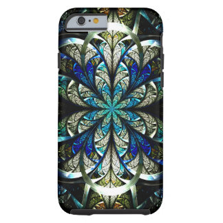 Abstract Floral Stained Glass 2 Tough iPhone 6 Case