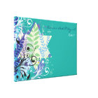 ABSTRACT FLORAL STAR Bat Mitzvah Sign-In Board Canvas Print