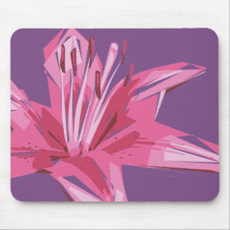 Abstract Floral Summer Lily Mouse Mat