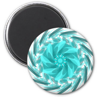 Abstract floral swirl. 6 cm round magnet