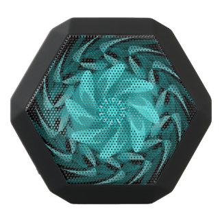 Abstract floral swirl. black bluetooth speaker