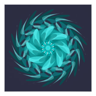 Abstract floral swirl. poster