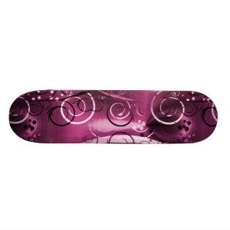 Abstract Floral Swirl Vines Deep Purple Girly Gift 19.7 Cm Skateboard Deck