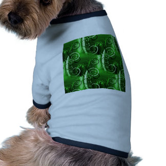 Abstract Floral Swirl Vines Green Girly Gifts Doggie Tee Shirt