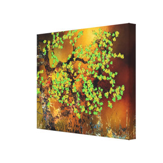 Abstract Floral Tree Fine Art Design Canvas Print