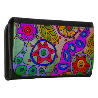 Abstract Floral Wallet