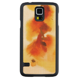 Abstract floral watercolor paintings 2 carved maple galaxy s5 case