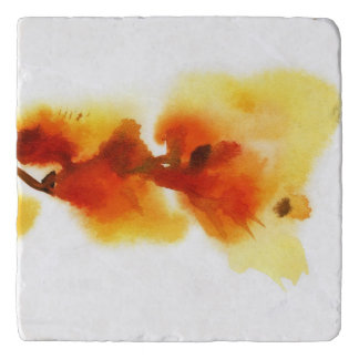Abstract floral watercolor paintings 2 trivet