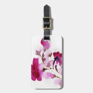 Abstract floral watercolor paintings 4 luggage tag