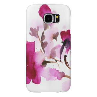 Abstract floral watercolor paintings 4 samsung galaxy s6 cases