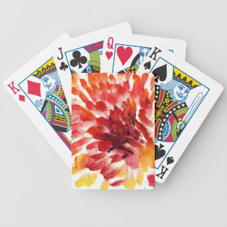 Abstract floral watercolor paintings 5 bicycle playing cards
