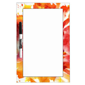 Abstract floral watercolor paintings 5 dry erase board
