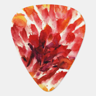 Abstract floral watercolor paintings 5 guitar pick
