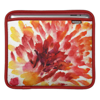 Abstract floral watercolor paintings 5 iPad sleeve