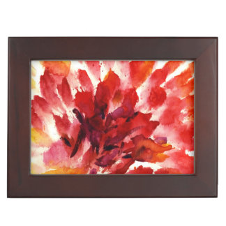 Abstract floral watercolor paintings 5 memory box