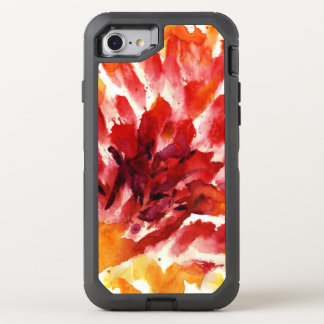 Abstract floral watercolor paintings 5 OtterBox defender iPhone 8/7 case