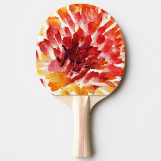 Abstract floral watercolor paintings 5 ping pong paddle
