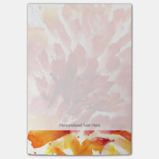 Abstract floral watercolor paintings 5 post-it notes