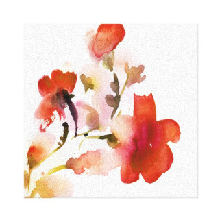 Abstract floral watercolor paintings canvas print