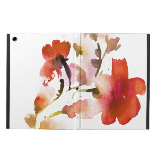Abstract floral watercolor paintings case for iPad air