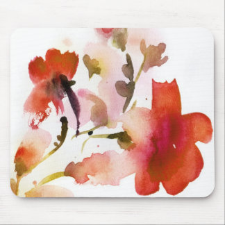 Abstract floral watercolor paintings mouse mat