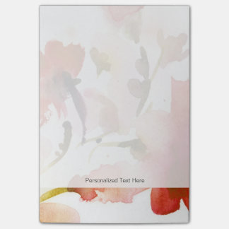 Abstract floral watercolor paintings post-it notes