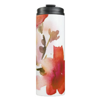 Abstract floral watercolor paintings thermal tumbler