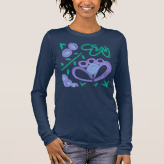 Abstract Floral Wearable Art Long Sleeve T-Shirt