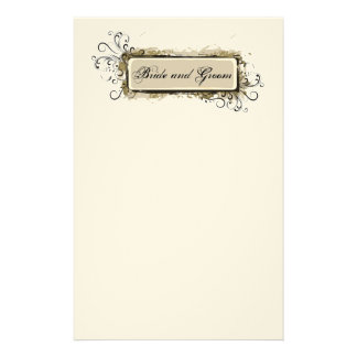 Abstract Floral Wedding Stationery