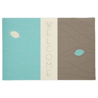 Abstract Floral Welcome Floormat Doormat