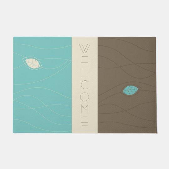 Abstract Floral Welcome Floormat Doormat