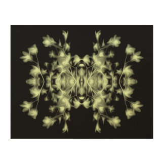 Abstract Floral Wood Wall Art