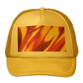 Abstract Flow - Red Yellow Cap