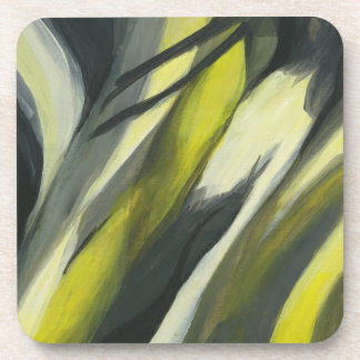 Abstract Flow - Yellow Grey Coaster