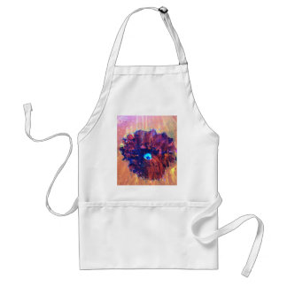 ABSTRACT FLOWER STANDARD APRON