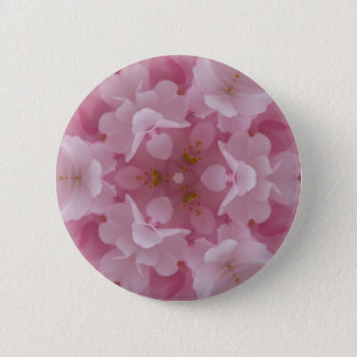 abstract flower background 6 cm round badge