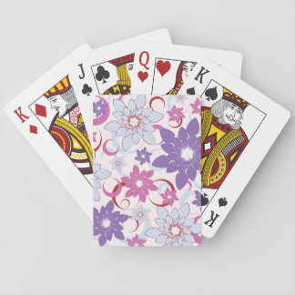 Abstract Flower Background Playing Cards