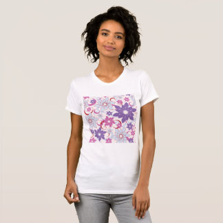 Abstract Flower Background Womens T-Shirt