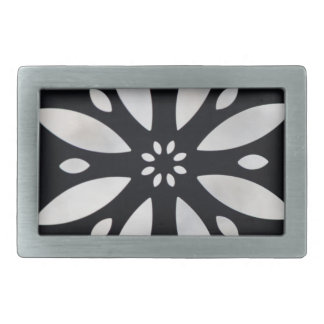 abstract flower belt buckle